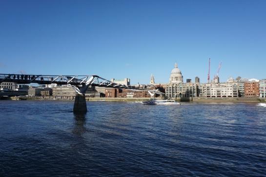 London Thames millenium bridge cathedral saint paul